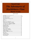 The Adventures of Huckleberry Finn, Mark Twain, 66 page Unit