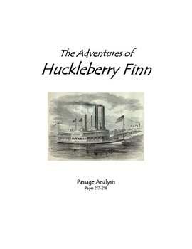 The Adventures of Huckleberry Finn - Passage Analysis