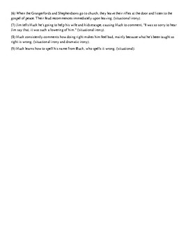 The Adventures of Huckleberry Finn- Satire & Irony