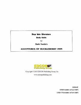 The Adventures of Huckleberry Finn Study Guide for Great Reading