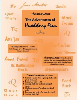 The Adventures of Huckleberry Finn Trivia Game--300 Questions! Fun!