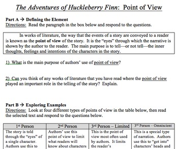 The Adventures of Huckleberry Finn Unit