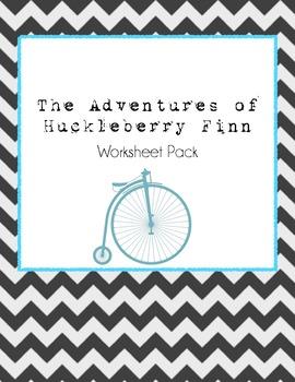 The Adventures of Huckleberry Finn Worksheet Pack