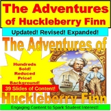 The Adventures of Huckleberry Finn and Mark Twain PowerPoint