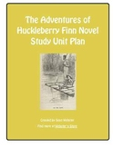 """The Adventures of Huckleberry Finn"" by Mark Twain - Novel Study Unit Plan"