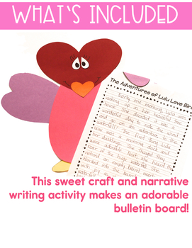 Valentine's Day - Writing - Narrative - The Adventures of Lulu Love Bird