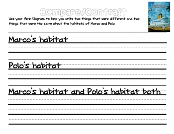 The Adventures of Marco and Polo- A Habitat Compare and Contrast