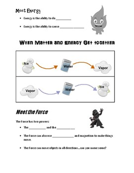 The Adventures of Matter, Energy, and the Force NOTE PAGE