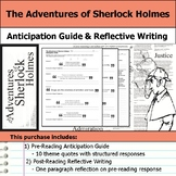 The Adventures of Sherlock Holmes - Anticipation Guide & Reflection Writing