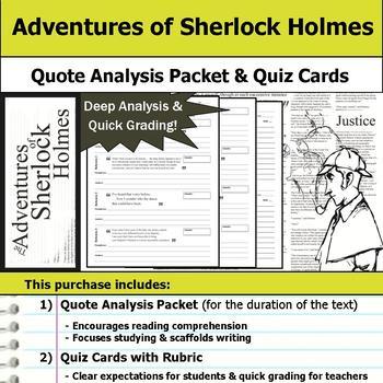 The Adventures of Sherlock Holmes - Quote Analysis & Readi