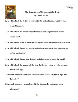 The Adventures of Sir Lancelot the Great by Gerald Morris, Battle of the Books Q
