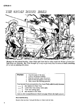 The Adventures of Tom Sawyer 10 Chapter Novel, Student Activities, Answer Keys