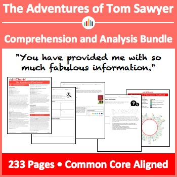 The Adventures of Tom Sawyer – Comprehension and Analysis Bundle