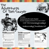 New! The Adventures of Tom Sawyer Novel Study Student Workbook