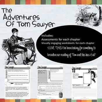 New! The Adventures of Tom Sawyer Novel Study Student Workbook