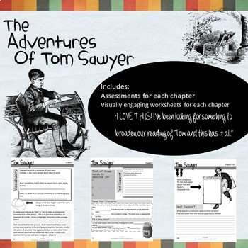 the adventures of tom sawyer novel study by the children 39 s. Black Bedroom Furniture Sets. Home Design Ideas