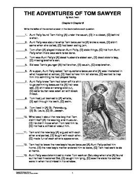 The Adventures of Tom Sawyer Novel Study Unit