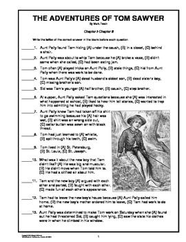 The Adventures of Tom Sawyer Novel Study Unit