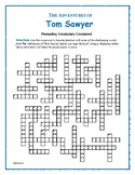 The Adventures of Tom Sawyer: Prereading Vocab Crossword—Great Prep for the Book