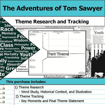 The Adventures of Tom Sawyer - Theme Tracking Notes - Context Research