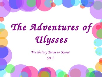 The Adventures of Ulysses Vocabulary ppt 1