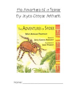 The Adventures of a Spider Writer's Response Packet