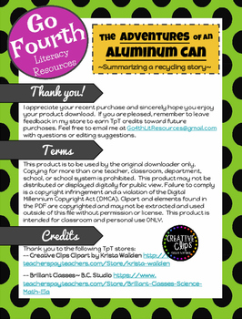 The Adventures of an Aluminum Can- Summarizing a Recycling Story