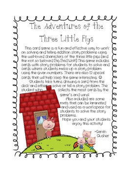 The Adventures of the Three Little Pigs: Addition Story Pr
