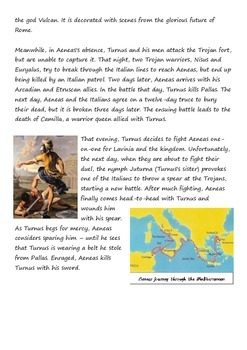 The Aeneid. Basic story outline with questions.