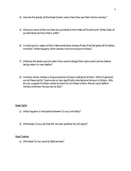 The Aeneid Discussion Questions