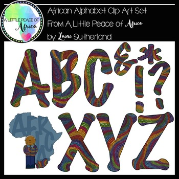 The African Alphabet Clip Art Collection