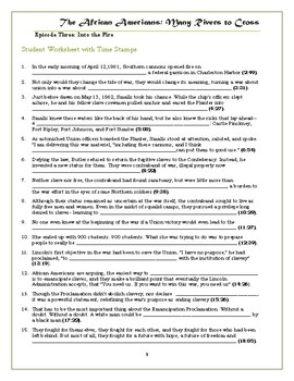 The African Americans Many Rivers to Cross Episode 3 Worksheet: 1860-1896