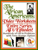 The African Americans Many Rivers to Cross Worksheets for ENTIRE SERIES Bundle