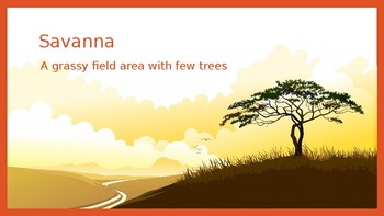 The African savanna and location words