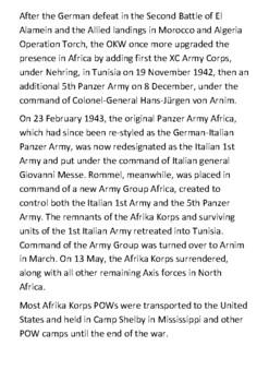 The Afrika Korps Handout