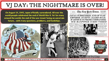 The Aftermath of World War II Activity for U.S. History Classes