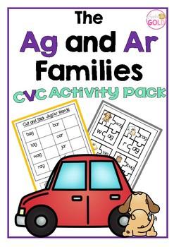 The Ag and Ar Families - CVC Activity Pack