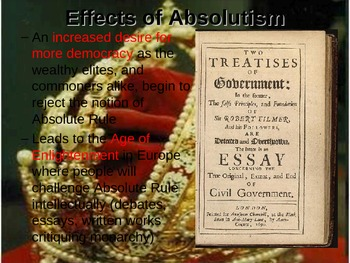 The Age of Absolutism Guided Notes