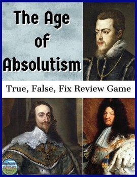 The Age of Absolutism Review Game