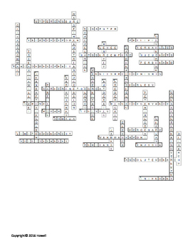 The Age of Absolutism Vocabulary Crossword for World History
