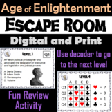 The Age of Enlightenment: Escape Room - Social Studies