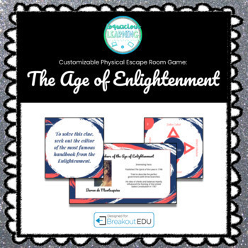 The Age of Enlightenment (History) Breakout Game (Content Below)