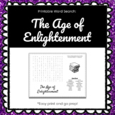 The Age of Enlightenment Printable Word Search Puzzle