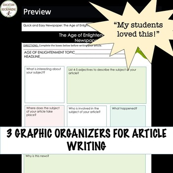 Enlightenment Quick and Easy Newspaper Collaborative Activity