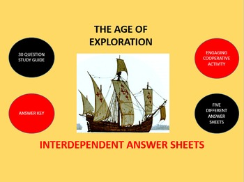 The Age of Exploration: Interdependent Answer Sheets Activity