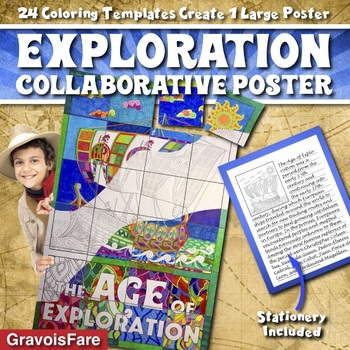Age of Exploration Project—Collaborative Poster—Activity, Craft, Bulletin Board