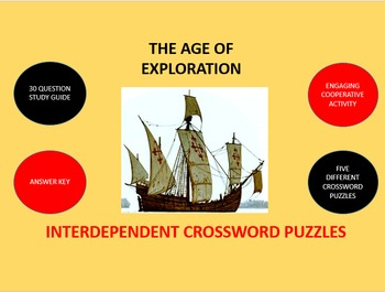 The Age of Exploration: Interdependent Crossword Puzzles Activity