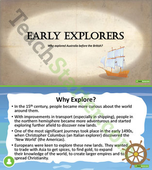 The Age of Exploration, Discovery and Expansion Unit Plan - Grade 3-4