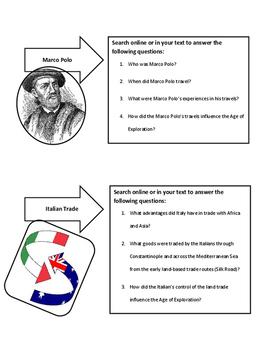 World History Age of Exploration Influences