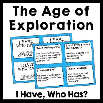 Age of Exploration I Have, Who Has? Game {Set of 24 Cards}